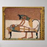 Anubis attends Sennedjem's Mummy Poster