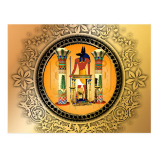 Anubis, egypt postcard