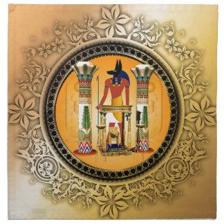 Anubis, egypt printed napkin