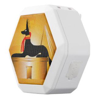 Anubis, Egyptian god White Boombot Rex Bluetooth Speaker