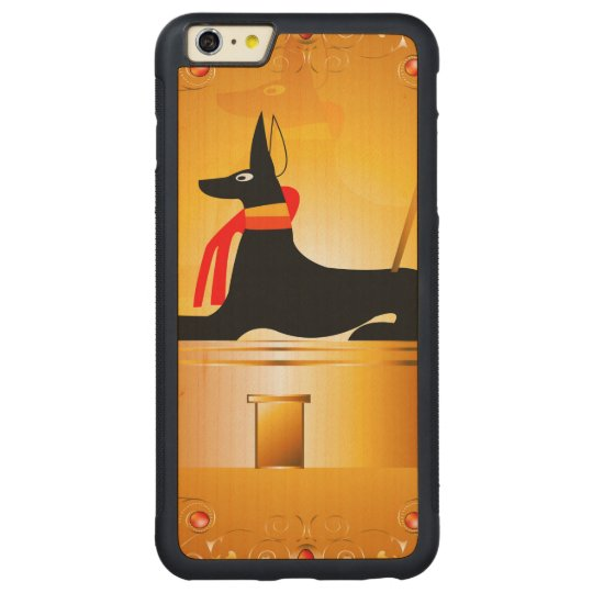 Anubis, Egyptian god Carved Maple iPhone 6 Plus Bumper Case