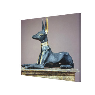 Anubis, Egyptian god of the dead from a chest Canvas Print