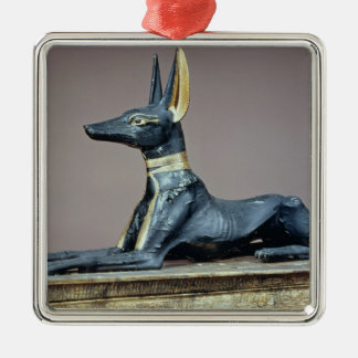 Anubis, Egyptian god of the dead from a chest Silver-Colored Square Decoration