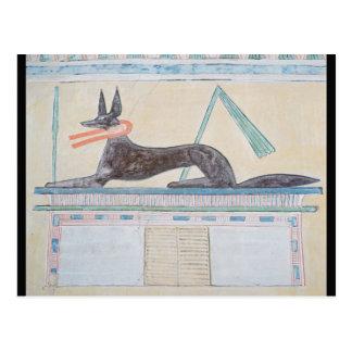 Anubis, Egyptian god of the dead Postcard