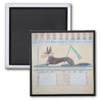 Anubis, Egyptian god of the dead Square Magnet