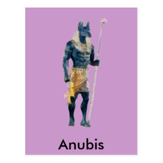 Anubis Egyptian God Postcard