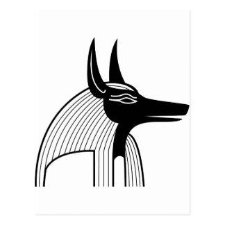 Anubis Egyptian God. Post Cards