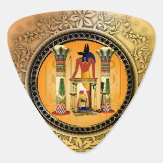Anubis on golden background plectrum