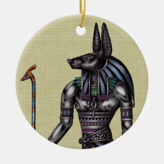 Anubis Ornament Round