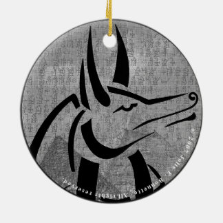 Anubis Premium Round Round Ceramic Decoration