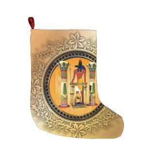 Anubis the egyptian god large christmas stocking