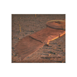Anunnaki Return Winged Disc Gallery Wrapped Canvas