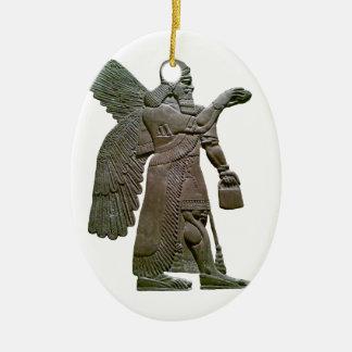 Anunnuki Ancient Sumerian Alien Extraterrestrial Christmas Ornament