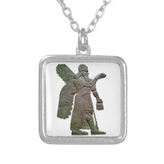 Anunnuki Ancient Sumerian Alien Extraterrestrial Square Pendant Necklace