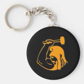 Anvil Man Basic Round Button Key Ring