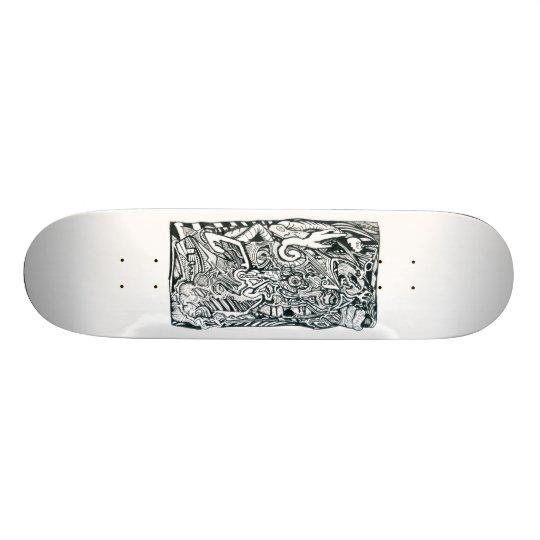 Anxiety Attack by Brian Benson Skateboard Decks
