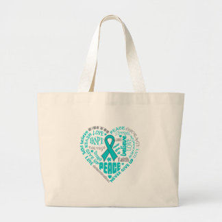 Anxiety Disorder Awareness Heart Words Tote Bags