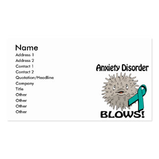 Anxiety Disorder Blows Awareness Design Business Cards