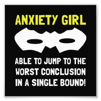 Anxiety Girl Photo Print