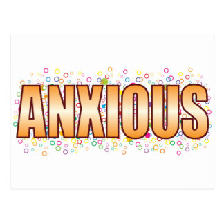 Anxious Bubble Tag Postcard