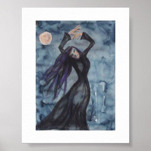 Anxious dance - Moon dance Print