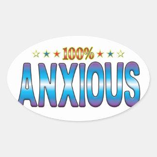 Anxious Star Tag v2 Oval Sticker