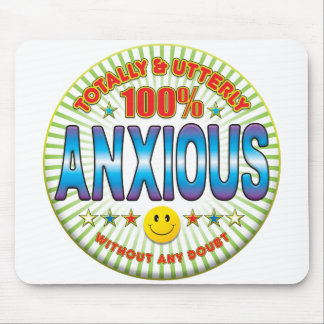 Anxious Totally Mouse Mats