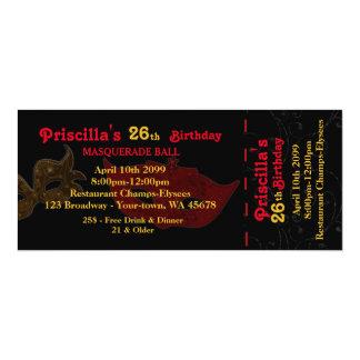 any age,26th,Invitation Ticket styl,Birthday Woman 10 Cm X 24 Cm Invitation Card
