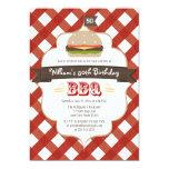ANY AGE BBQ BIRTHDAY PARTY 13 CM X 18 CM INVITATION CARD