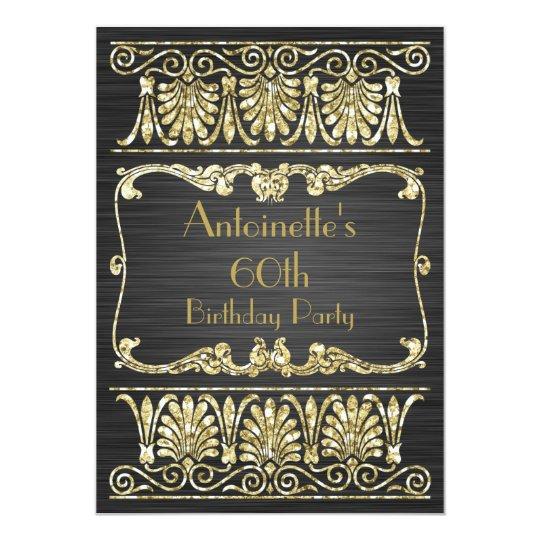 Any Age Birthday Art Deco Greek Arabesque Card