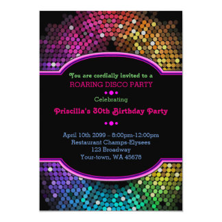 -any age,Birthday invitation Party, Gatsby, disco