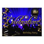 Any Age Birthday Party Celebration Teens or Adults 11 Cm X 16 Cm Invitation Card