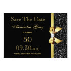 Any Age Birthday Save The Date Black and Gold Card