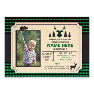 Any Age Lumberjack Birthday Invite Check Invite