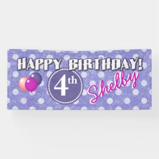 Any Age Polka Dot Birthday 1 Banner