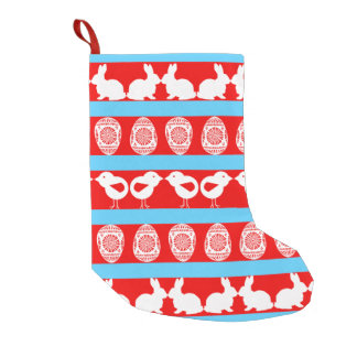 Any background color small christmas stocking