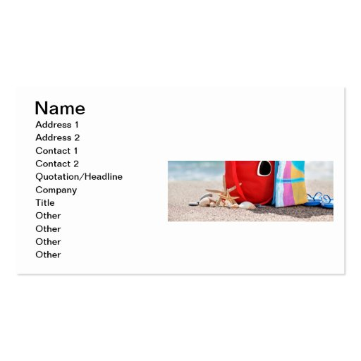 ANY BEACH RELATED BUSINESS- BUSINESS CARD
