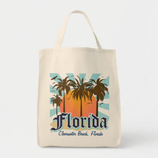 (Any City) Florida The Sunshine State Grocery Tote Bag