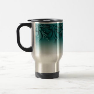 Any Color 3D Look Damask Border Stainless Steel Travel Mug