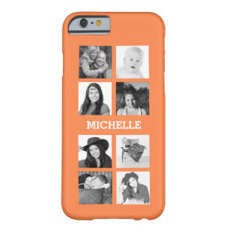 Any Color 8 Photos and Personalized Name iPhone 6 Case
