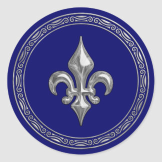 Any Color and Silver Fleur de Lis Envelope Seal