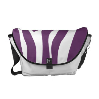 Any Color and White Zebra Stripe Commuter Bags