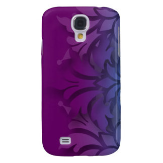 Any Color Background 3D Look Damask w Teal Galaxy S4 Case