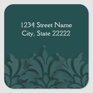 Any Color Background 3D Look Return Address Seal Square Sticker