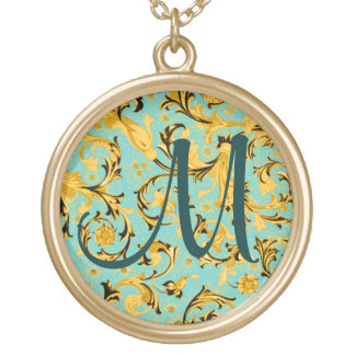 Any Color Background - Gold Florentine Gold Plated Necklace