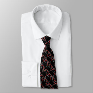 Any Color Black and Red Star of David Pattern Tie