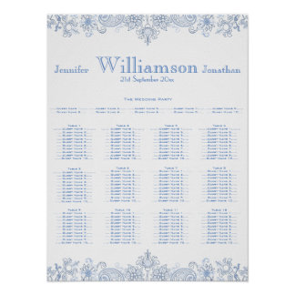 Any Color Flowers - Foliage Wedding Seating Chart