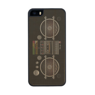 Any Color Ghetto Blaster Carved® Maple iPhone 5 Slim Case