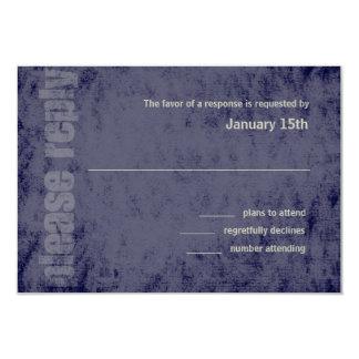 Any Color Grunge Bar Mitzvah Response Card