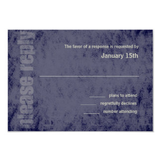 Any Color Grunge Bar Mitzvah Response Card 9 Cm X 13 Cm Invitation Card